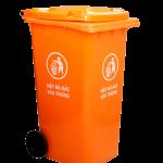 Thùng rác nhựa HDPE 240L màu cam