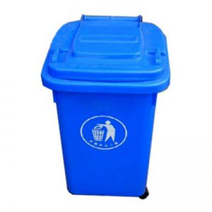 Thùng rác nhựa 60 Lít mầu xanh dương có bánh xe