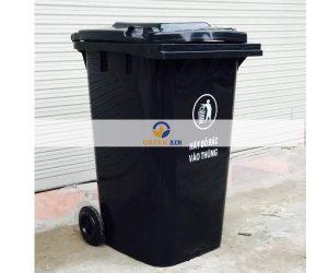 Thùng rác nhựa 120 lít mầu ghi
