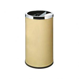 Thùng rác inox tròn có gạt tàn thuốc lá A35K-3873V