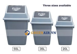 Thùng rác nhựa Push nắp lật
